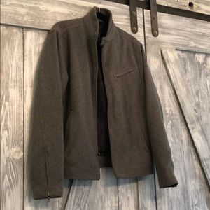 Men's gray wool jacket. Express. Sz M